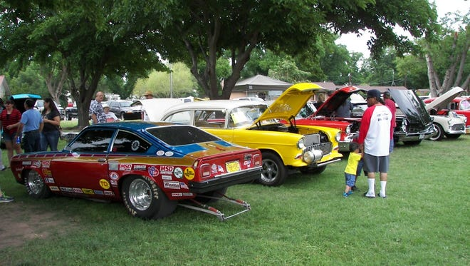 Cars from last year's show.