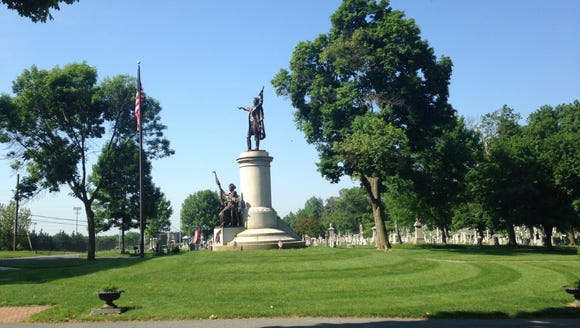 This monument marks Francis Scott Key's burial place