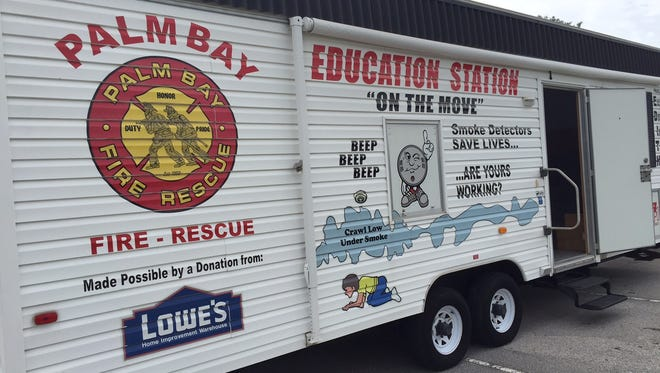 "A Palm Bay Fire Rescue ""Education Station"" was on display at the event."