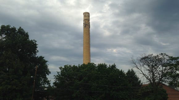 This smokestack marks the spot. The spot of the York