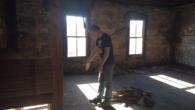Chef Greg McPhee, who's new restaurant, The Anchorage, will open in The Village of West Greenville in the fall, explains the renovations that will be made to the historic building.