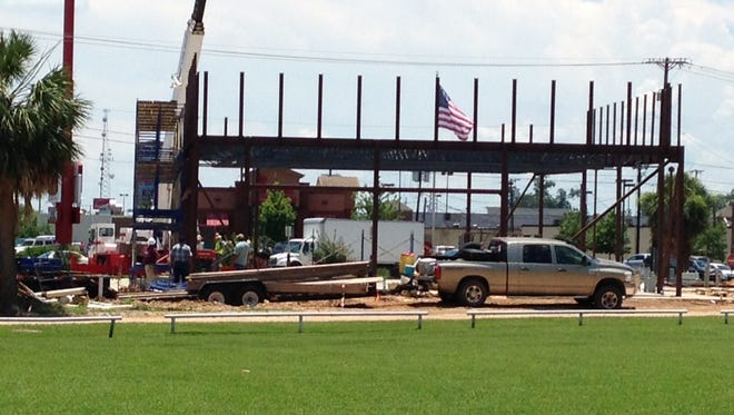 Alexandria's second Mattress Firm store is being constructed on Jackson Street Extension, across from Chik-Fil-A.