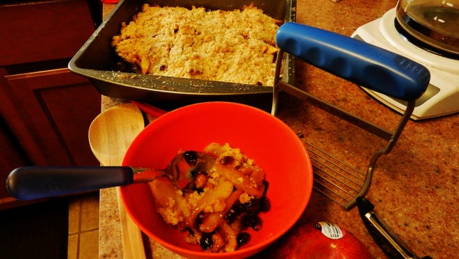 Apple Cranberry crisp.