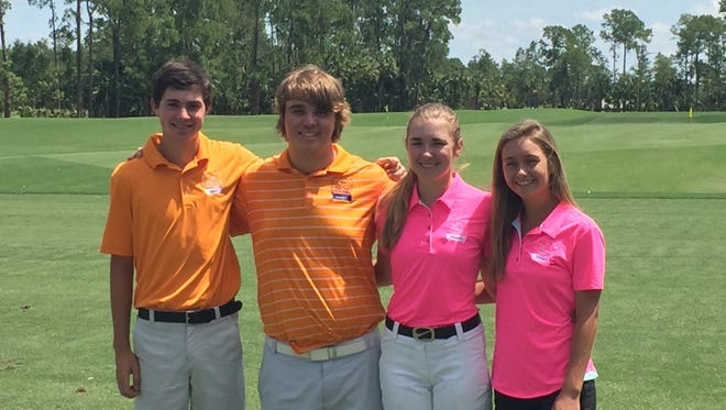 The First Tee of Naples/Collier's Peter George, Christian Taylor, Kelly Newbrough, and Makenzie Hotchkiss have been selected to play in the PGA Tour Champions' Nature Valley First Tee Open at Pebble Beach from Sept. 13-18, 2016.