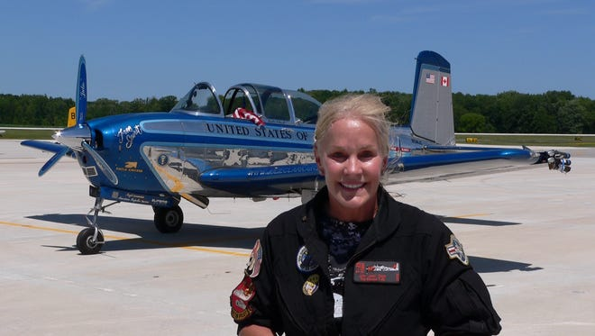 World-famous acrobatic pilot Julie Clark returns for another performance at the 2016 Air Show at the Aviation Heritage Center of Wisconsin.