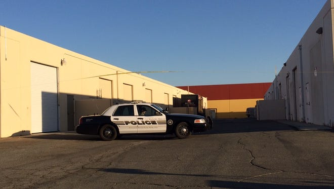 Riverside County sheriff's deputies blocked off an alley to investigate a sexual assault Wednesday morning in Thousand Palms.