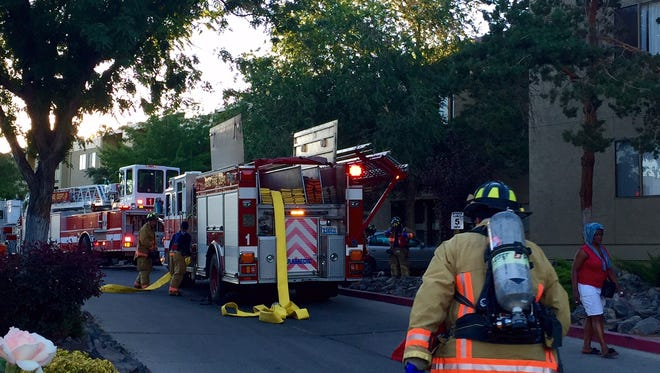 Crews are on scene of an apartment fire that sparked Tuesday.