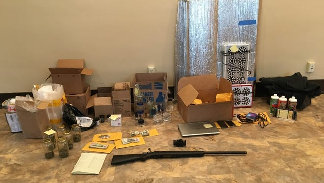 Items collected from a Newtown home by police