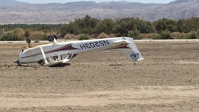 A small plane crashed at the Jacqueline Cochran Airport in Thermal, Calif. No one was injured.