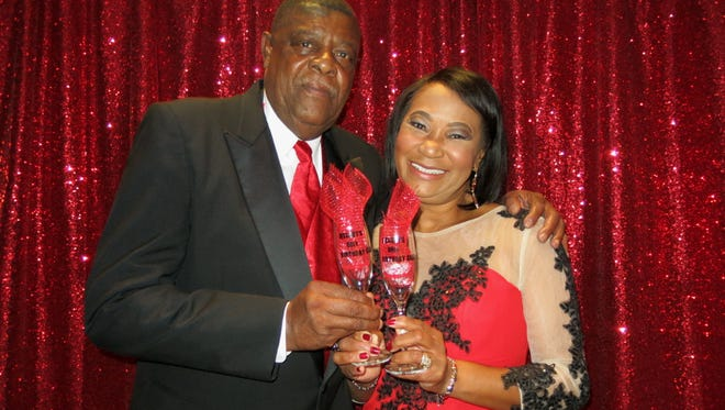 Willie Williams and his wife Melody Williams at her 60th birthday party.