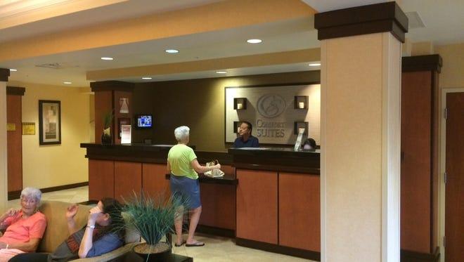 The Comfort Suites Hotel in Vero Beach is full for Hurricane Matthew.