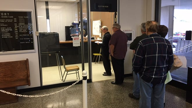 About 200 people a day are voting early in Delaware County, the county clerk says.