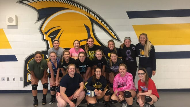The Webberville varsity volleyball team captured its first league title since 1988.