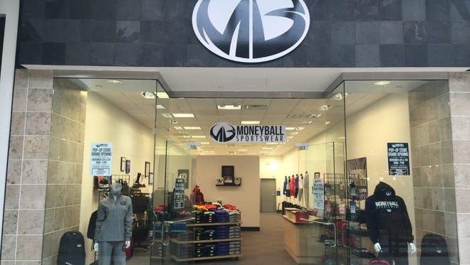Moneyball Sportswear will have a pop-up shop in Meridian Mall through November and December.
