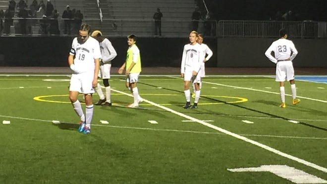 Division 2 No. 1-ranked East Lansing fell to No. 11-ranked Mattawan, 2-0, in the state semifinals at Grand Rapids Christian High School Wednesday night.