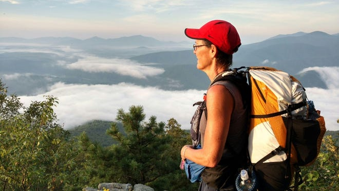 Lansing solo hiker Diane Beckwith on the Appalachian Trail.