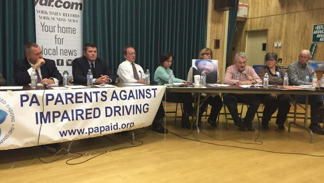 Families, law enforcement and others participated in a town hall Monday night about addressing driving under the influence.