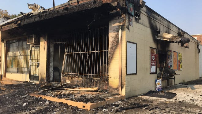 FIre destroyed a business Monday morning, Nov. 14, 2016, at 2531 Martin Luther King Ave.