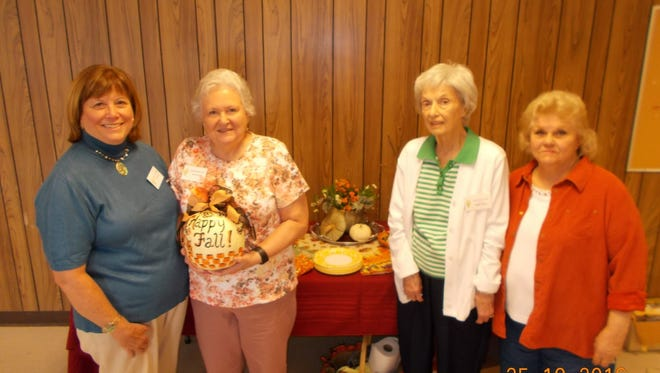 Shown from left are Lavonia Garden Club members Krista Fitzgerald, Genie Burks, Betty Turner and Kay McCall.