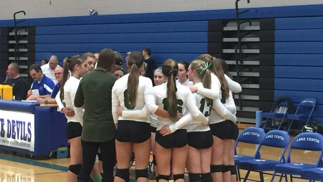 Portland St. Patrick's historic volleyball season ended with a four-set loss to Auburn Hills Oakland Christian Tuesday night at  Lake Fenton High School.