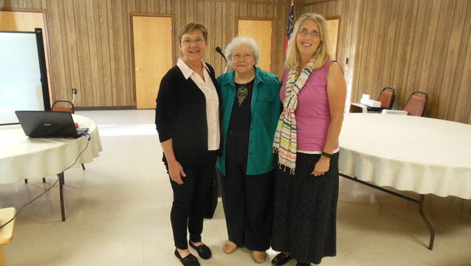Shown from left are authors, Bonnie Adams-Little, Erika Jantzen and Amy Hanley.
