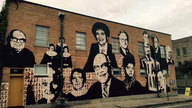 The Upstanders mural, from Facing History and Ourselves, celebrates Memphians who fought for justice.