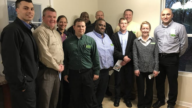 Publix employees from around the area attended the home dedication to celebrate the completion of the work of their hands and surprise the homeowner with supplies for his new home.