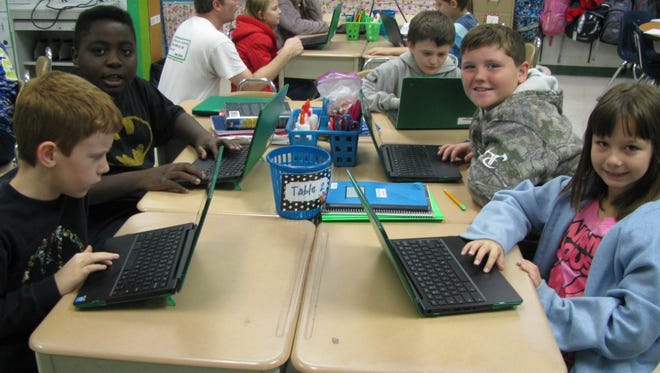 Shown are fourth-graders who participated in the nationwide Hour of Code class at Cherokee Trail Elementary School in Abbeville County School District.