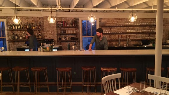 The Anchorage's bar is located upstairs, with seating for 18 people total.
