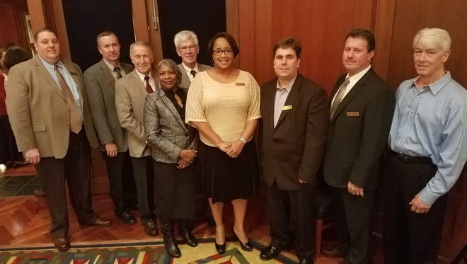 Shown are the 2017 Hart Chamber Board of Directors from left are Bobby Breffle, chairman; Kevin McCraney, co-chairman; Jerry McHan, Gail Blackwell, Larry Torrence, Kristie Rucker, David Buddenbaum, Robert Kesler and Bo Howard. Not pictured: Kay Ankerich, Bob McCormick and Brandy Floyd.