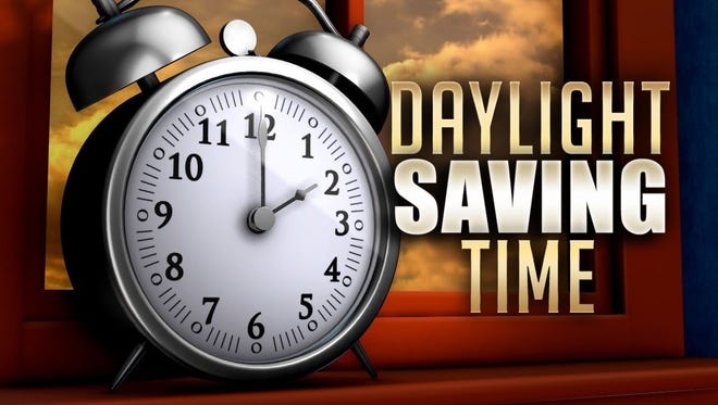 Remember to turn your clocks forward. Daylight Saving Time begins Sunday.