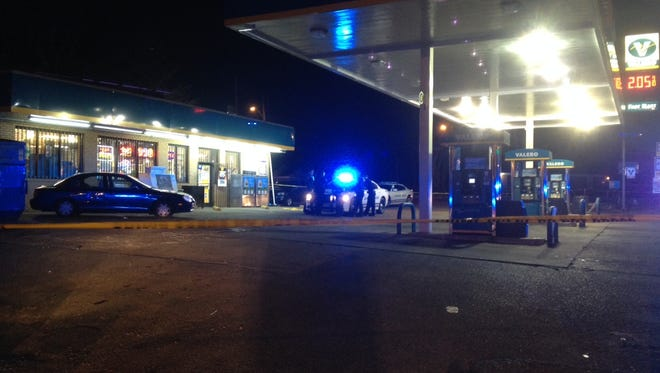 A young man was injured in a shooting at a Valero gas station in Whitehaven.