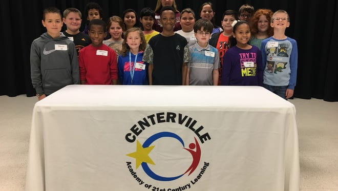 Shown are Centerville Elementary School spelling bee participants for 2017.