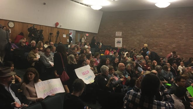 The county executive's third town hall event drew a packed house in Port Chester.