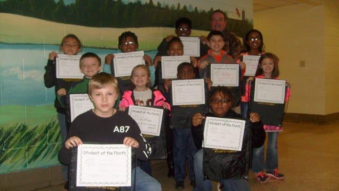 John C. Calhoun Elementary School students of the month for January