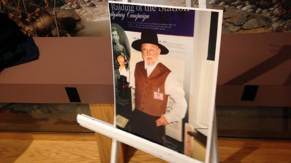 A commemorative picture of the late Terry Koller was on display at a recent gathering of the Friends of the Heritage Rail Trail Corridor. Koller was a volunteer with numerous organizations in the region.