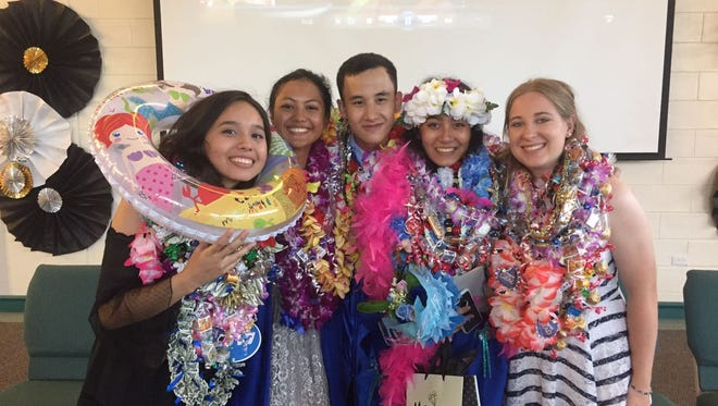 Graduates of the Guam Homeschool Association Class of 2017 at their commencement ceremony held at Faith Presbyterian Church.
