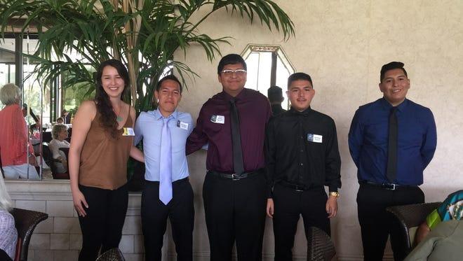 (left to right): Alondra Ponce, Christian Orozco, John Roque, Edwin Ramirez, and Alan Maciel.