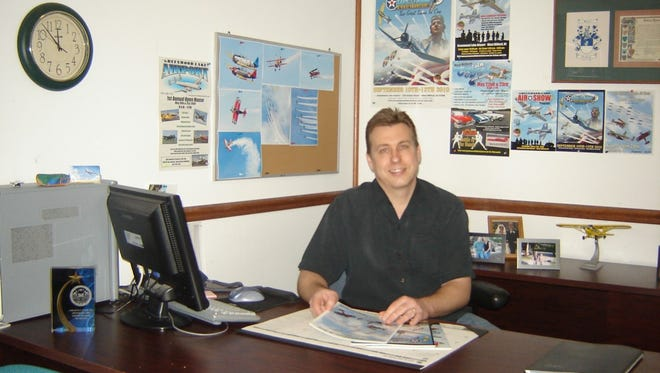 Greenwood Lake Airport Operator and Manager Tim Wagner in his office.