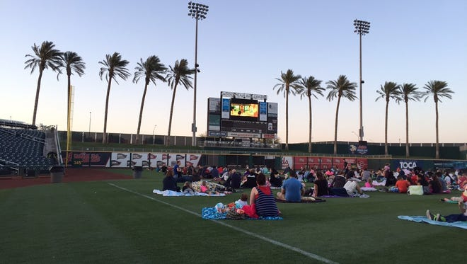 """Watch the family-friendly movie """"Ghostbusters"""" on the outfield at Goodyear Ballpark. Bring blankets.Concessions will be available for purchase. Gates open 30 minutes prior to showtime. Details:7p.m. Friday, June 23. Goodyear Ballpark, 1933 S. Ballpark Way, Goodyear. Free.goodyearbp.com."""