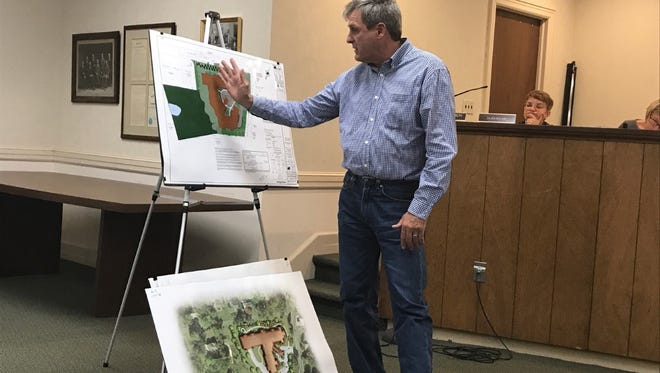 Shirley Avenue resident Nicholas Andreano explains how a proposed senior care complex in Franklin Lakes would affect his adjacent property.
