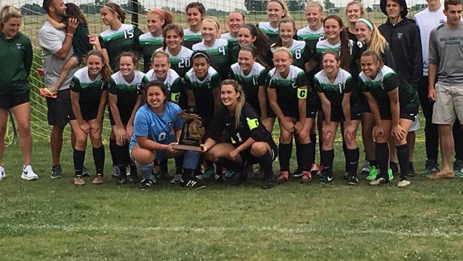 The Williamston girls soccer team captured its second straight Division 3 district championship Saturday afternoon.