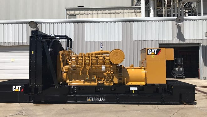 The generator set Caterpillar will provide to St. Luke's.