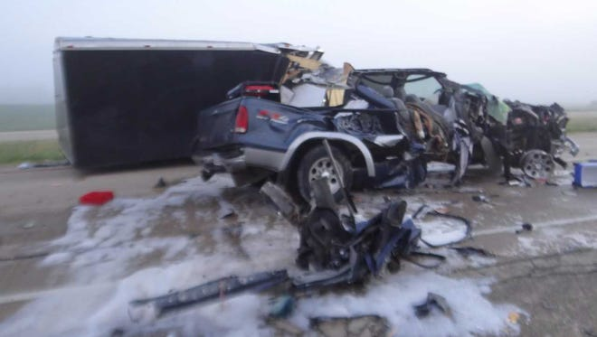 43-year-old Jessica J Millerof Evansdale, Iowa was killed in a crash along  US 151 in Dodge County.