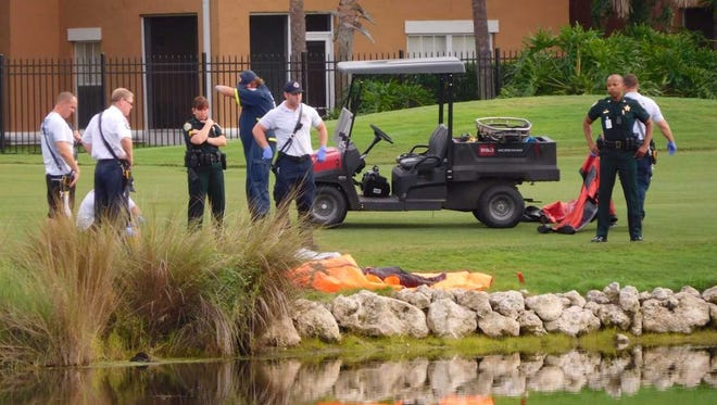 A body was found in a golf course pond in Grand Harbor July 24, 2017.
