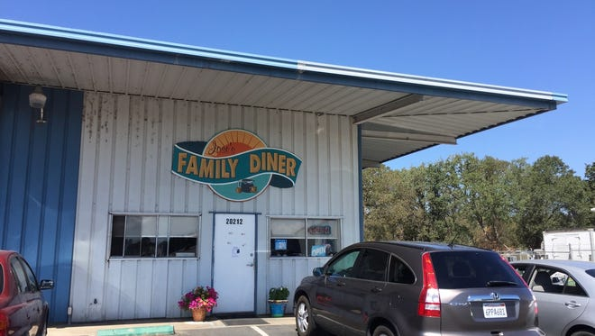 Entrance to Jose's Family Diner, in an industrial area off Airport Road in east Redding.