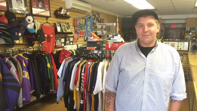 Michael Gamble, 22, plans to open Throwback Sports Co. at 325 N. Sawyer St. in Oshkosh on Sept. 15.