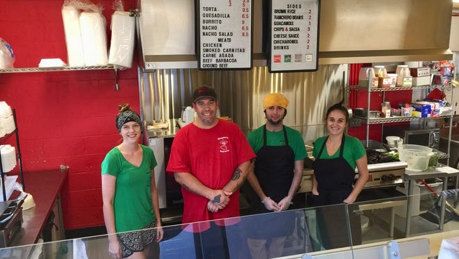The lunch crew at Roquito's Taqueria on South Market Street.