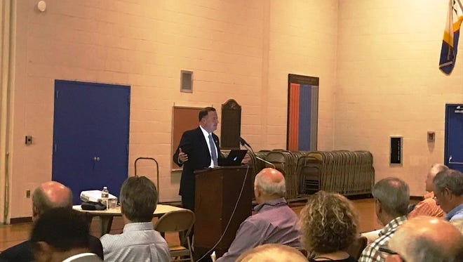 Hunterdon County Prosecutor Anthony P. Kearns III addresses participants attending the recent Security and Risk Mitigation training for houses of worship.