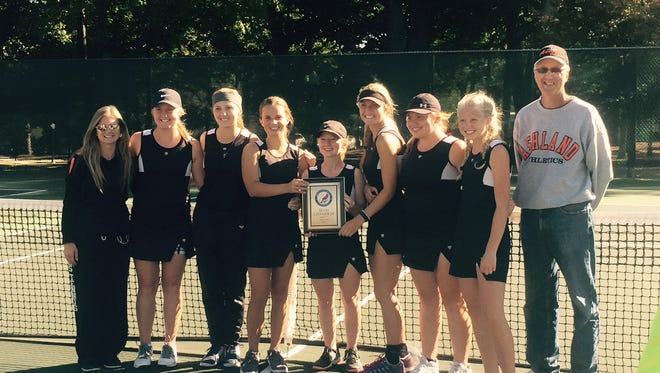 Coach Rick Crooks and his Ashland Arrows ended Lexington's 14-year reign in Ohio Cardinal Conference tennis.